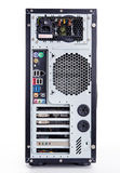 Full tower atx black case on white background Stock Photos