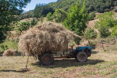 Full tractor royalty free stock photo