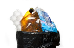 Full trash bin Royalty Free Stock Photography