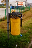 Full trash bin Royalty Free Stock Images