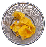 Full Trash Can Stock Photography