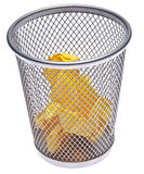 Full Trash Can Royalty Free Stock Photo