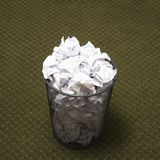Full trash can. Royalty Free Stock Images