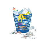 Full trash can isolated Stock Photos