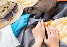Full travel bag Royalty Free Stock Images
