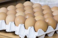 Full tray of freshly egg. Full tray of freshly organic eggs Stock Photography