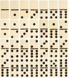 Full uppsättning av dominobrickategelplattor Arkivfoton