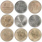 Full uppsättning av franska franc royaltyfri fotografi