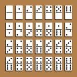 Full uppsättning för dominobricka Royaltyfri Foto