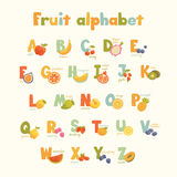 Full vector cute alphabet for kids in bright colors. Stock Images