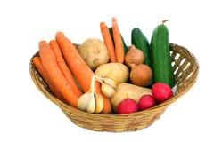 Full vegetable basket Stock Photo