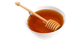 Full view of a bowl of honey royalty free stock images