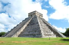 Full view of the El Castillo Pyramid royalty free stock photography