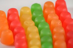 full view of Gummy candy  Royalty Free Stock Photo