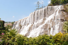 Waterfalls. Full View of a mountain waterfall royalty free stock photo