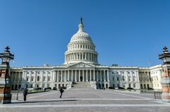 Free Full View Of US Capitol In Washington DC, Home Of Congress. Royalty Free Stock Image - 187514976