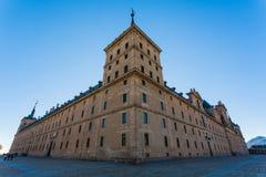 Full view of San Lorenzo de El Escorial Royal Site Stock Photo