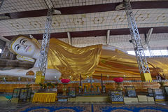 Full view of Shwethalyaung Buddha at Bago, Myanmar Royalty Free Stock Photos