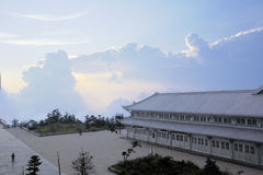 Full view at the top of emei mountain Stock Images