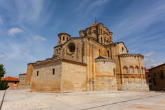 Full view of Toro romanesque collegiate church. General view of Toro great romanesque collegiate church in Zamora ,Spain Royalty Free Stock Photography