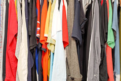 Full Wardrobe. Of Male's Closet royalty free stock images