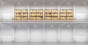 Full warehouse and empty. Royalty Free Stock Photos
