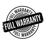 Full Warranty rubber stamp Stock Photography