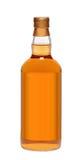Full whiskey bottle Royalty Free Stock Photo