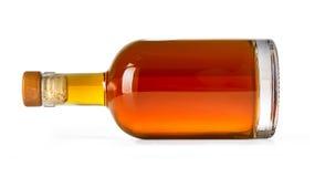 Full whiskey bottle Stock Photography