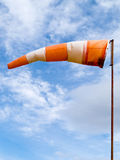 Full wind cone weather vane on windy day Royalty Free Stock Photos