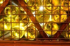 Full wine bottles backlited Royalty Free Stock Photos