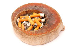 Full Wooden Ashtray Stock Photos