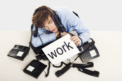 Full of work Stock Image