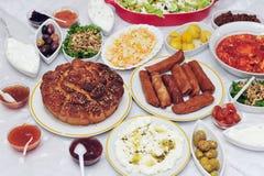 Full Yeminite Breakfast royalty free stock photo
