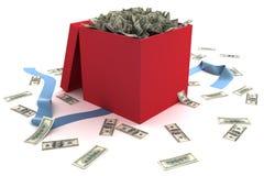 fulla öppna gåvapengar för ask Royaltyfria Foton