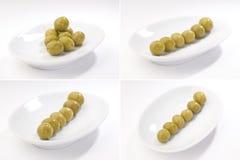 fulla gröna inställt format för bilder olivgrön Fotografering för Bildbyråer