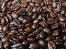 Fulla ramkaffebönor Royaltyfria Bilder