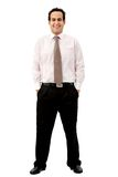 Fullbody business man Stock Photos