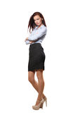 Fullbody business woma  isolated over a white background Royalty Free Stock Images