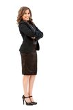 Fullbody business woman Stock Photography