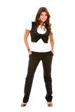 Fullbody business woman Stock Images