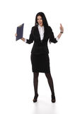 Fullbody business woman carrying Royalty Free Stock Image