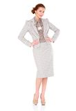 Fullbody business woman smiling  Royalty Free Stock Photos