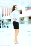 Fullbody business woman Royalty Free Stock Photography