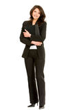 Fullbody businesswoman Stock Images