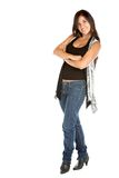 Fullbody casual woman Royalty Free Stock Photography