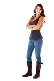 Fullbody casual woman Stock Image