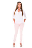 Fullbody casual woman Stock Photography