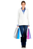 Fullbody shopping woman Royalty Free Stock Photography