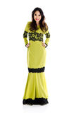 Fullbody shot of a cheerful asian woman Royalty Free Stock Images